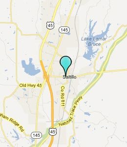 Map of Saltillo, MS hotels