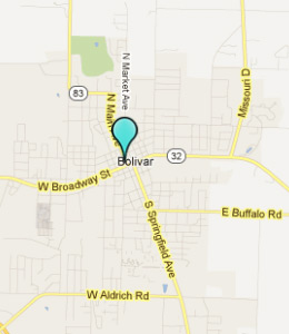 Map of Bolivar, IN hotels