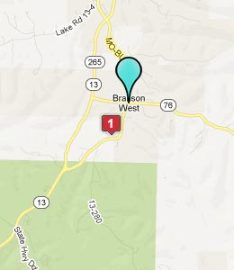 Map of Branson West, MO hotels