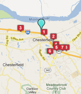 Hotels Near Chesterfield Mo