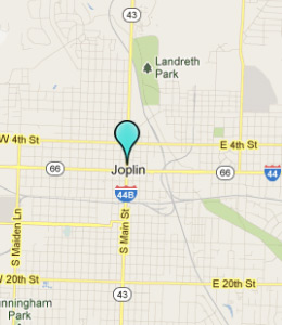 Map of Joplin, IN hotels