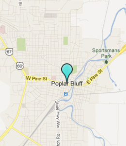 Map of Poplar Bluff, IN hotels
