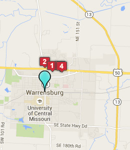 Map of Warrensburg, IN hotels