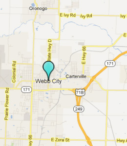 Map of Webb City, IN hotels