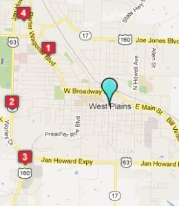 West Plains MO picture: map west plains mo hotels jpg
