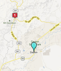 Map of Dayton, NV hotels
