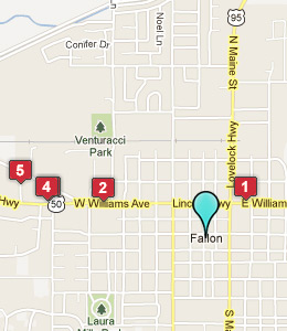 Map of Fallon, NV hotels