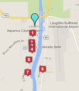 Map of Laughlin, NV hotels