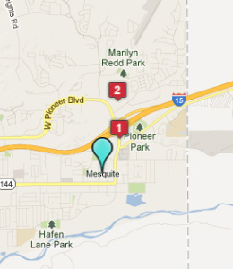 Map of Mesquite, NV hotels