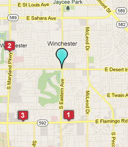 Map of Winchester, NV hotels