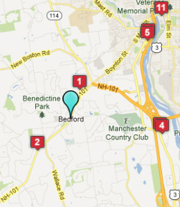 Map of Bedford, IN hotels
