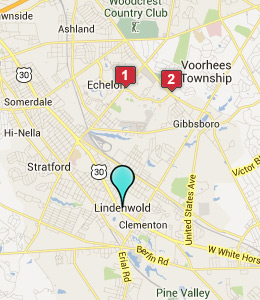 Map of Lindenwold, NJ hotels
