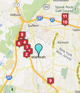 Map of Mahwah, NJ hotels