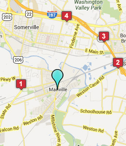Map of Manville, NJ hotels