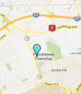 Map of Piscataway, NJ hotels