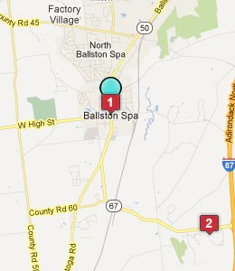 Map of Ballston Spa, NY hotels