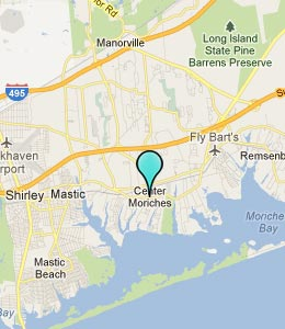 Map of Center Moriches, NY hotels