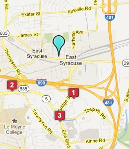 Map of East Syracuse, NY hotels