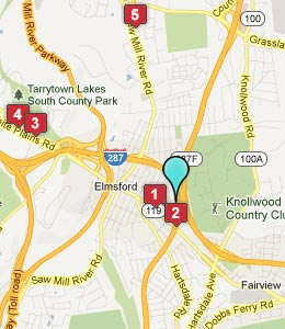 Map of Elmsford, NY hotels