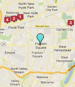 Map of Franklin Square, NY hotels