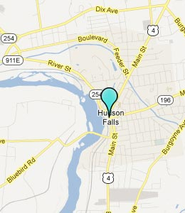 Map of Hudson Falls, NY hotels