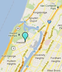 Map of Inwood Manhattan, NY hotels