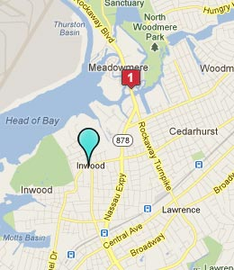 Map of Inwood, NY hotels