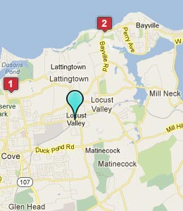 Locust Valley Long Island Map