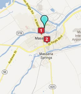 Map of Massena, NY hotels