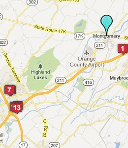 Map of Montgomery, NY hotels