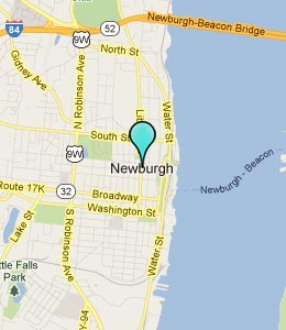Map of Newburgh, NY hotels