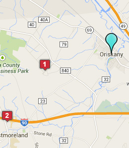 Map of Oriskany, NY hotels