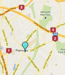 Map of Plainview, NY hotels