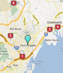 Map of Port Chester, NY hotels