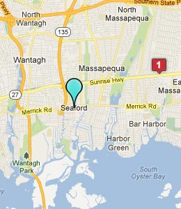 Map of Seaford, NY hotels