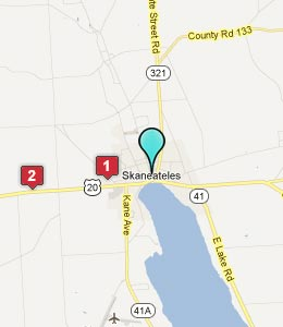 Map of Skaneateles, NY hotels