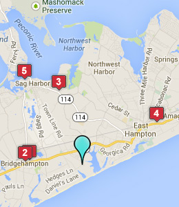 Map of Wainscott, NY hotels