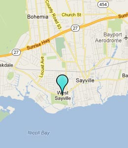 Map of West Sayville, NY hotels