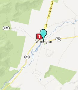Map of Wilmington, NY hotels