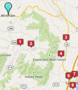 Map of Windham, NY hotels