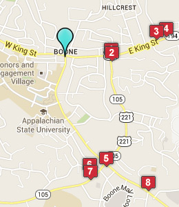 Map of Boone, IN hotels