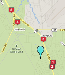 Map of Havelock, NC hotels