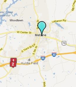 Mebane North Carolina Map Bnhspine Com
