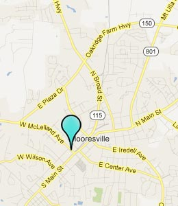 Map of Mooresville, NC hotels
