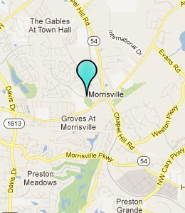 Map of Morrisville, NC hotels