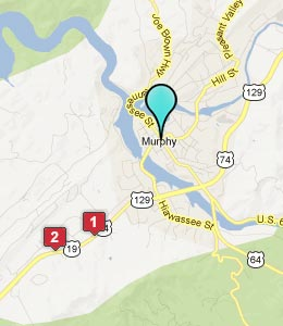 Map of Murphy, NC hotels