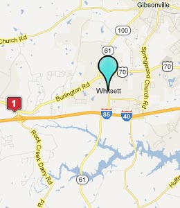 Map of Whitsett, NC hotels
