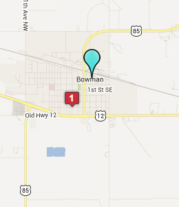 Map of Bowman, ND hotels