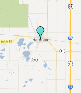 Map of Hankinson, ND hotels