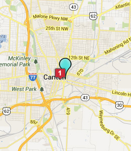 Map of Canton, IN hotels